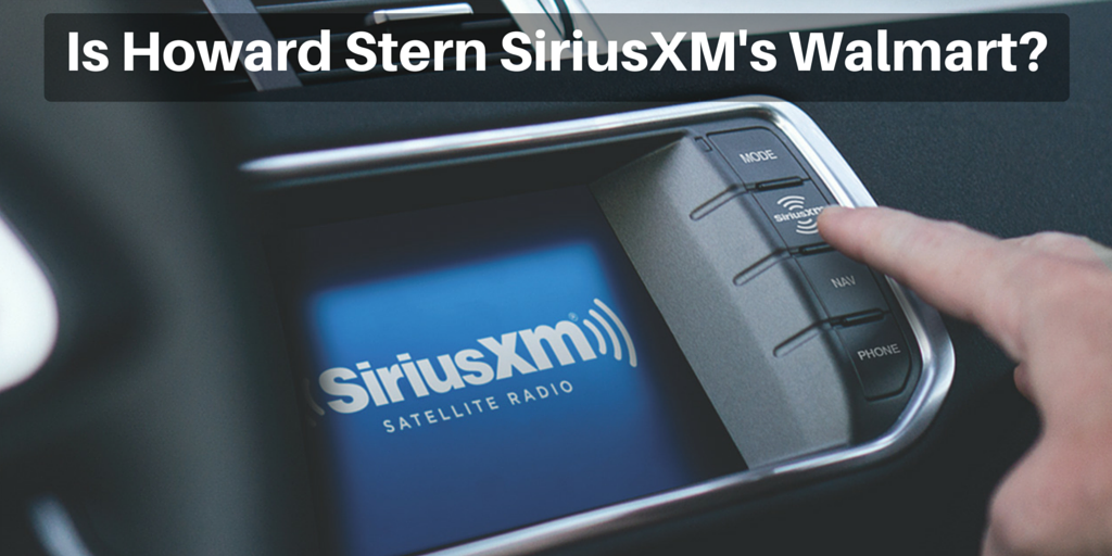 Is Howard Stern siriusXM Walmart