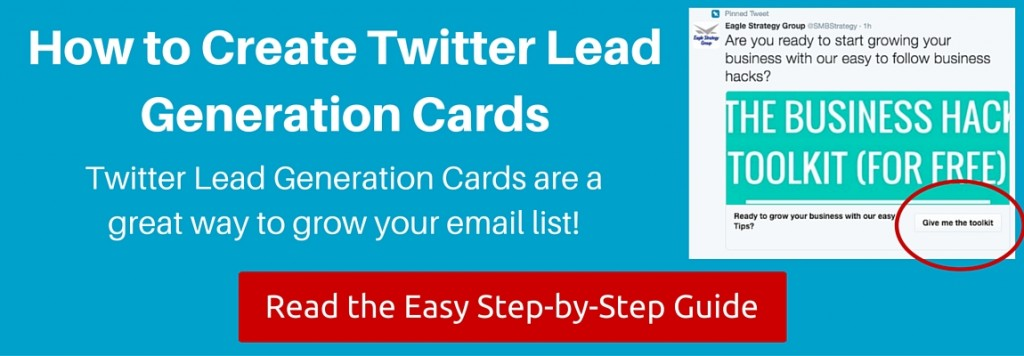Twitter Lead Generation Cards How To