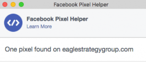facebook pixel helper window