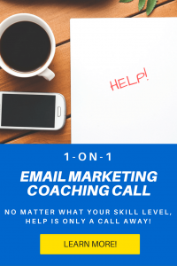 email marketing coaching call